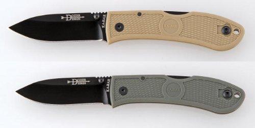 Ka-Bar Dozier Folding Hunter - Straight Edge - Foliage Green