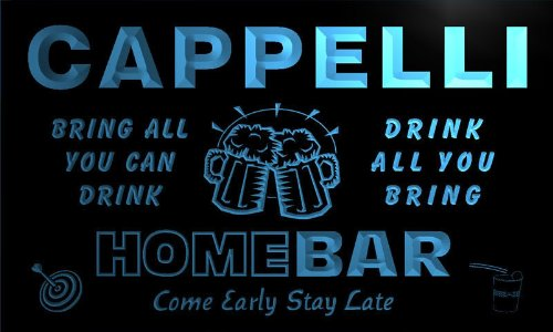 q06899-b-cappelli-family-name-home-bar-beer-mug-cheers-neon-light-sign