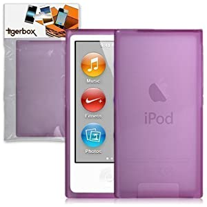 Tigerbox Purple Hydro Gel Skin Case Cover For Apple iPod Nano 7 7th Generation