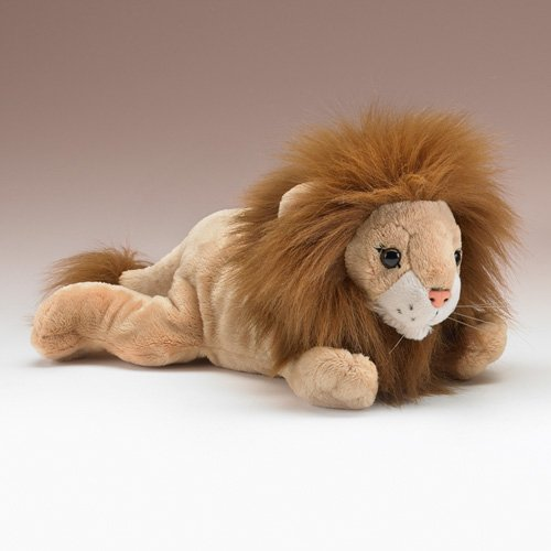 "Lion Lying Stuffed Animal Plush Toy 12"" L"