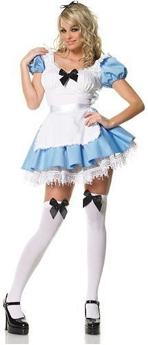 Leg Avenue – 2 PC. Blue Alice apron dress and stockings with bow.*DRESS* 620443000000X – 83086