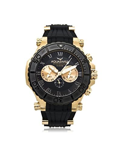 Aquaswiss Men's 39G5006 Bolt 5H Black/Gold-Tone Silicone Watch