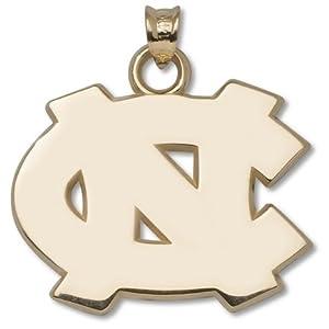 North Carolina Tar Heels 3 4 NC Pendant - 14KT Gold Jewelry by Logo Art