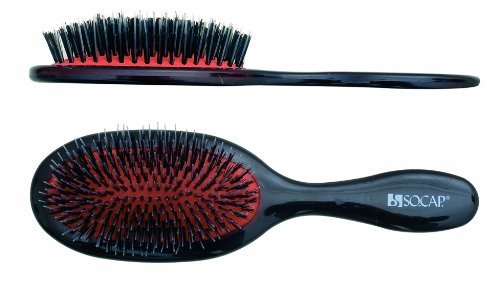 Large Oval Cushion Brush, SHE by SOCAP.USA, Made in Italy (Socap Hair Brush compare prices)