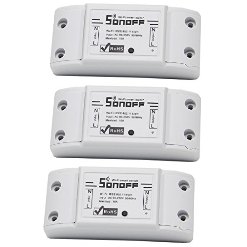 3-Pack Sonoff WiFi Switch Wireless Remote Control Smart Switch Module ABC Shell Socket For DIY Smart Home