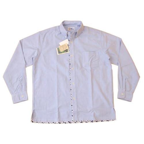 レインスプーナー(Reyn Spooner) 長袖コンビシャツ Reyn Spooner OX01-01 ブルー×クジラ (Mサイズ(アメリカサイズ))