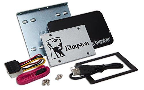 Kingston SSDNow UV400 240 GB solid state drive 2.5 Zoll SATA 3 mit Desktop/Notebook upgrade kit