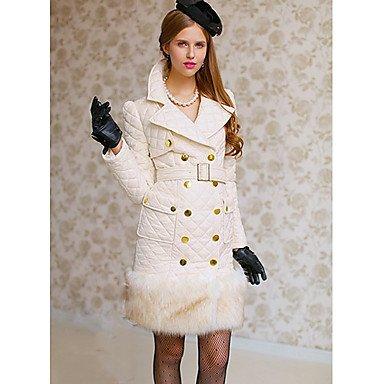 GA&GA Donna Big risvolto cappotto di pelliccia , cream , m