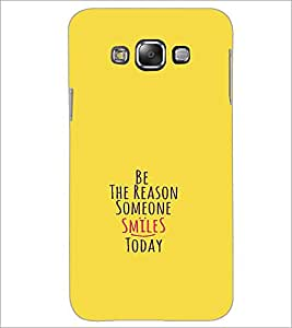 PrintDhaba Quote D-1130 Back Case Cover for SAMSUNG GALAXY E7 (Multi-Coloured)
