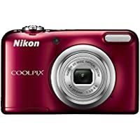 Nikon Coolpix A10 Point and Shoot Digital Camera (Red) with 8GB Memory Card and Camera Case