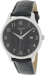 Tissot Men's Tradition T063.610.16.052.00 Black Leather Swiss Quartz Watch with Black Dial