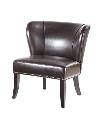 Luxury Home Hilton Accent Chair, Brown