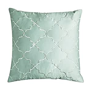European Decorative Pillows : Amazon.com: Adream 100% Sateen Cotton Embroidery Euro Shams European Throw Pillow Cover ...