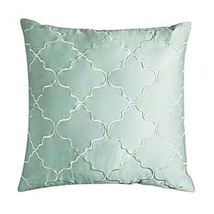 Amazon.com: Adream 100% Sateen Cotton Embroidery Euro Shams European Throw Pillow Cover ...
