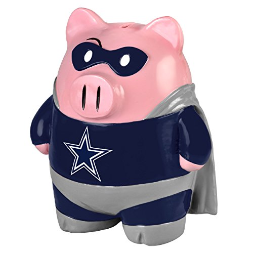 Dallas Cowboys Official NFL 13 inch x 10 inch Piggy Bank Large Stand Up Superhero by Forever Collectibles 555102