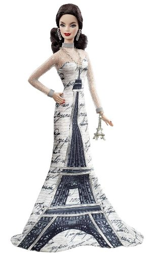 Cheap Barbie Pink Label Collector Dolls of the World Eiffel Tower Doll
