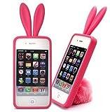 iPhone4S 用 ラビットケース うさぎ(ピンク) iPhone4にも対応