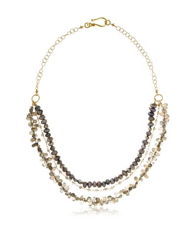 Robindira Unsworth Triple Strand Labradorite Necklace