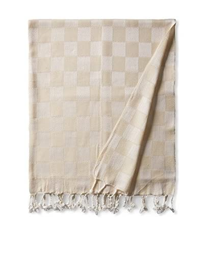 Nomadic Thread Handwoven Towel Cube, Natural/Natural