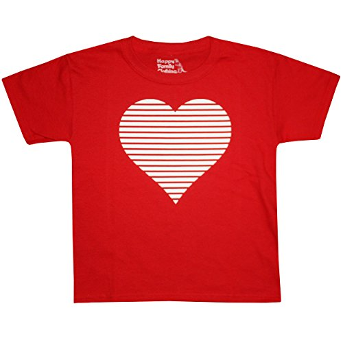 Happy Family Valentines Day Retro Striped Heart Youth T-Shirt