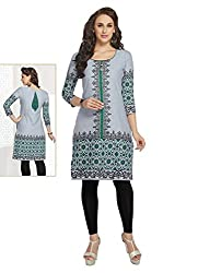 Comfortica Ethnicwear Women's Unstitched Kurti Fabric Multi-Coloured Free Size (SandhyaKala300)