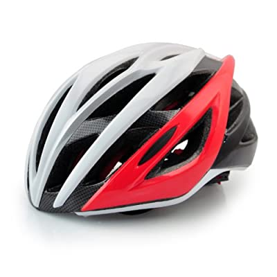 MENS WOMENS MOUNTAIN BIKE BI CYCLE HELMETS BICYCLE ADJUSTABLE ADULTS BOYS GIRLS ,SIZE53-58cm,RED from WIN-WIN