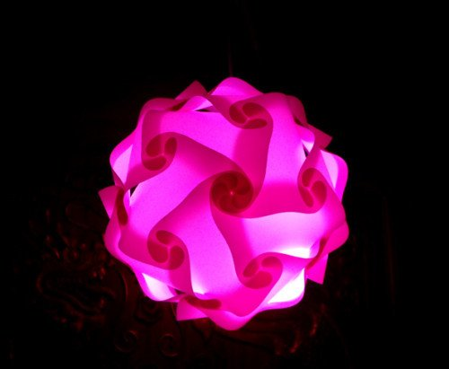 Modern Iq Jigsaw Lamp Ceiling Bedroom Light Shade New Year Christmas Day Pink M From Thailand front-47532