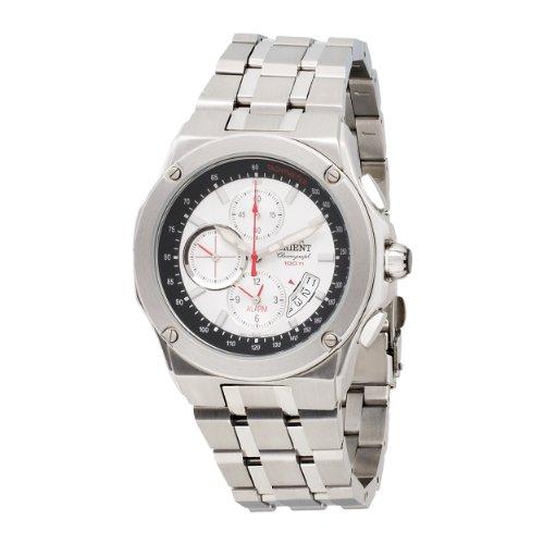 Orient Herren CTD0S002W 100m Alarm-Chronograph in 1 / 5 Zweite, Kleine Sekunde, Datum weiss Uhr
