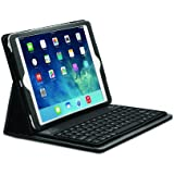 Kensington KeyFolio Case and Spill-Proof Silicon Keyboard with Bluetooth for iPad Air - Black