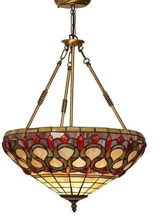 Oberon Tiffany Uplighter Pendant