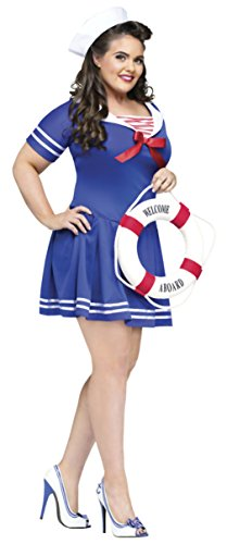 Funworld Womens Uniforms Anchors Away Nautical Sailor Theme Party Fancy Costume