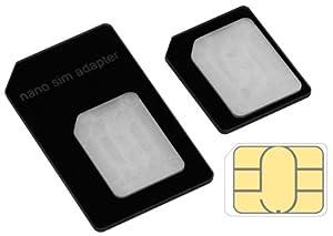 mumbi Nano SIM Adapter für iPhone 5 / Nanosim Adapter auf Micro Sim und normale SIM-Karte