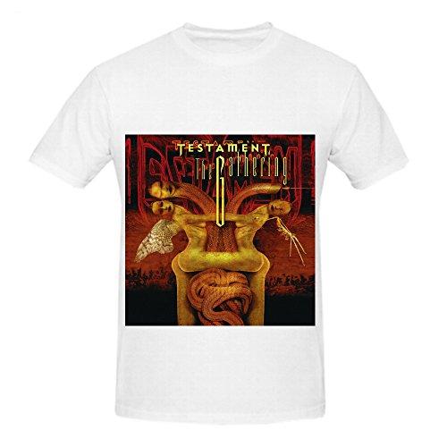 Testament The Gathering Pop Album Men Crew Neck Customized Shirts White (Bloodbath Juice compare prices)
