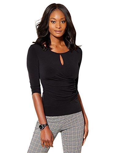 New York & Co. Women's - Draped Keyhole Top Small Adriatic Royal (New York And Company Tops compare prices)