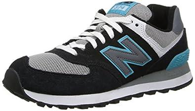 New Balance Women's Wl574 Core Pack Running Shoe,Black/Blue,5.5 B US