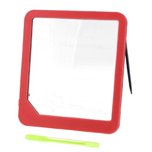 Dimart Children Illuminated Erasable Led Drawing Writing Board Red W Highlighter