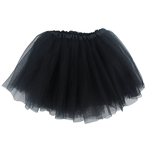 Ballerina Basic Girls Dance Dress-Up Princess Fairy Costume Dance Recital Tutu (Black) by So Sydney