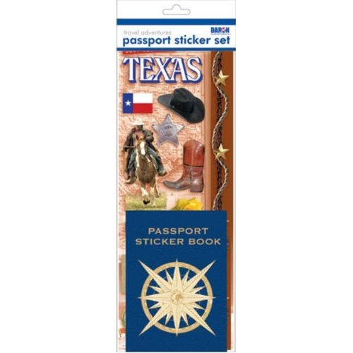 Passport Sticker Sets PP59125 Passport or Scrapbooking Sticker Set-Texas
