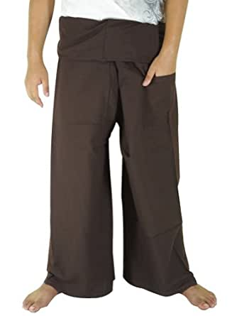 CandyHusky's Extra Long Fisherman Pants Casual Yoga Dance Pants Cotton Plus Size
