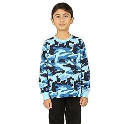Clifton Boys Army T-Shirts Full Sleeve R-Neck -Light Blue -XL