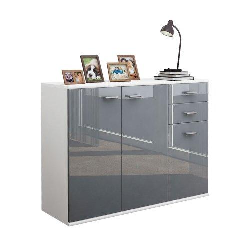 kommode grau hochglanz schlafzimmer kommode grau weiss. Black Bedroom Furniture Sets. Home Design Ideas