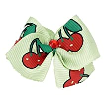 Puppy Kisses Cherry Dog Hair Bow - Metal barrette closure Made with SWAROVSKI ELEMENTS