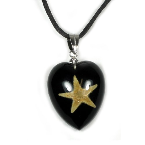 REALBUG Starfish Necklace, Black