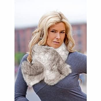 Faux Fur Ruffle Scarf (Snow Fox Brown)