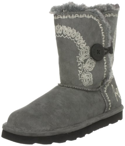 Replay Women's Only Grey Fur Trimmed Boots GWF01.002.C0019S.028 6 UK