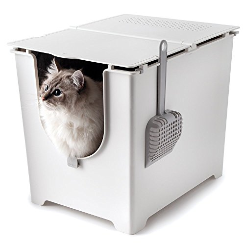 Flip Litter Box Kit Includes Scoop and Reusable Tarp Liner