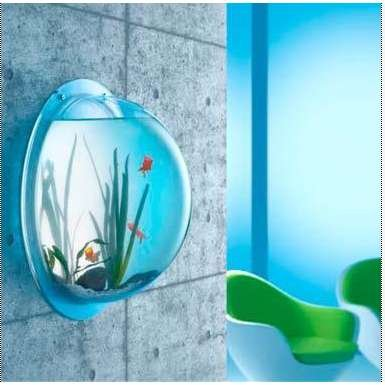 "Top Rated Fish Bowl for Goldfish & Betta Fish – Wall Mounted Bubble Tank – Aquarium – Hanging Terrarium – Includes ""Lets Get Started Guide"" – 10 in Diameter – Acrylic – by Stanton Collections™"