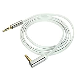 1m 3.5mm TPE Car Aux Auxiliary Stereo Audio Cable Cord 90° for Phone iPod MP3 PC - Length:1m