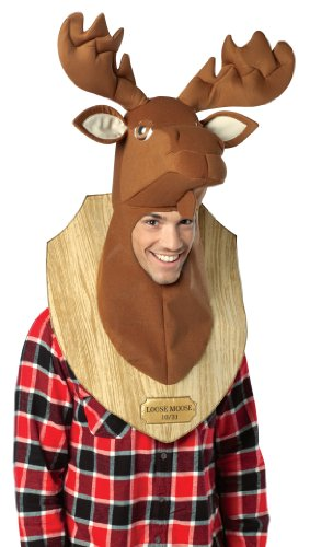Funny Trophy Head Loose Moose Costume Headpiece Adult