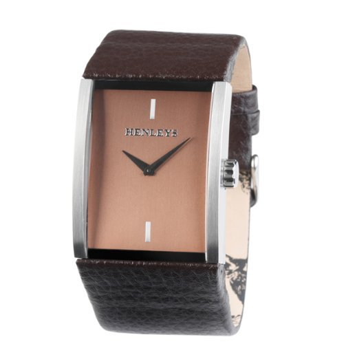 Henleys-Mens-Quartz-Watch-with-Brown-Dial-Analogue-Display-and-Brown-Leather-St